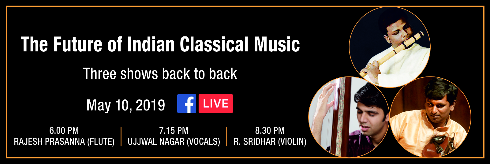 The Future of Indian Classical Music – Three Concerts back to back