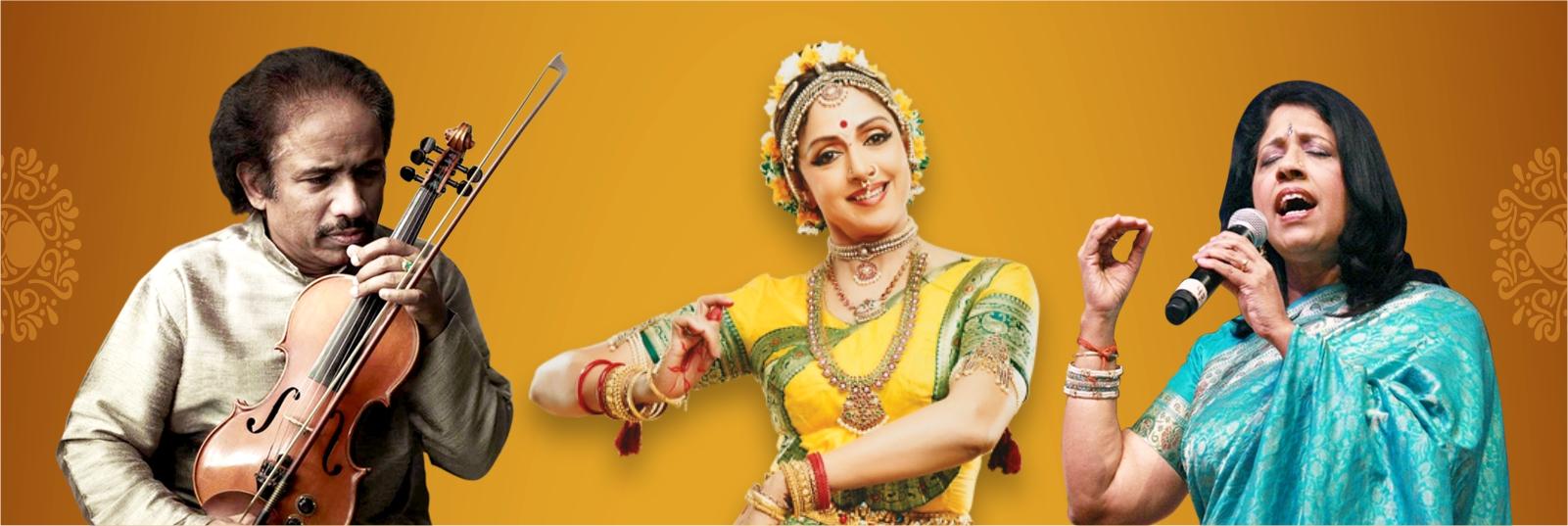 SOLD OUT!!! - Hema Malini, L. Subramaniam & Kavita Krishnamurthy Live in Concert