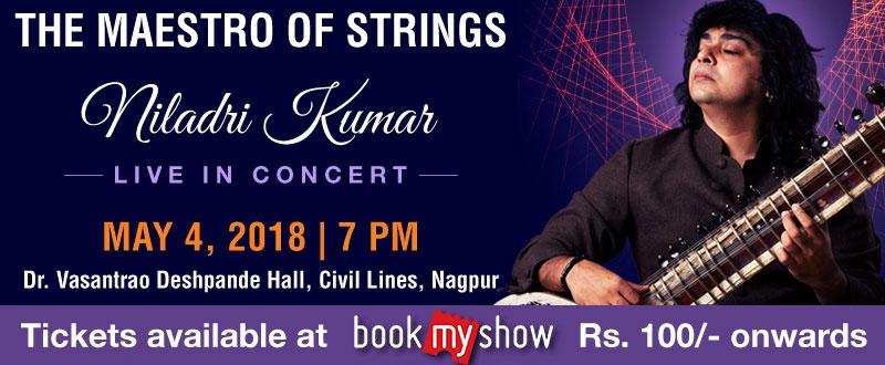 Sitar magician Niladri Kumar Live in Nagpur