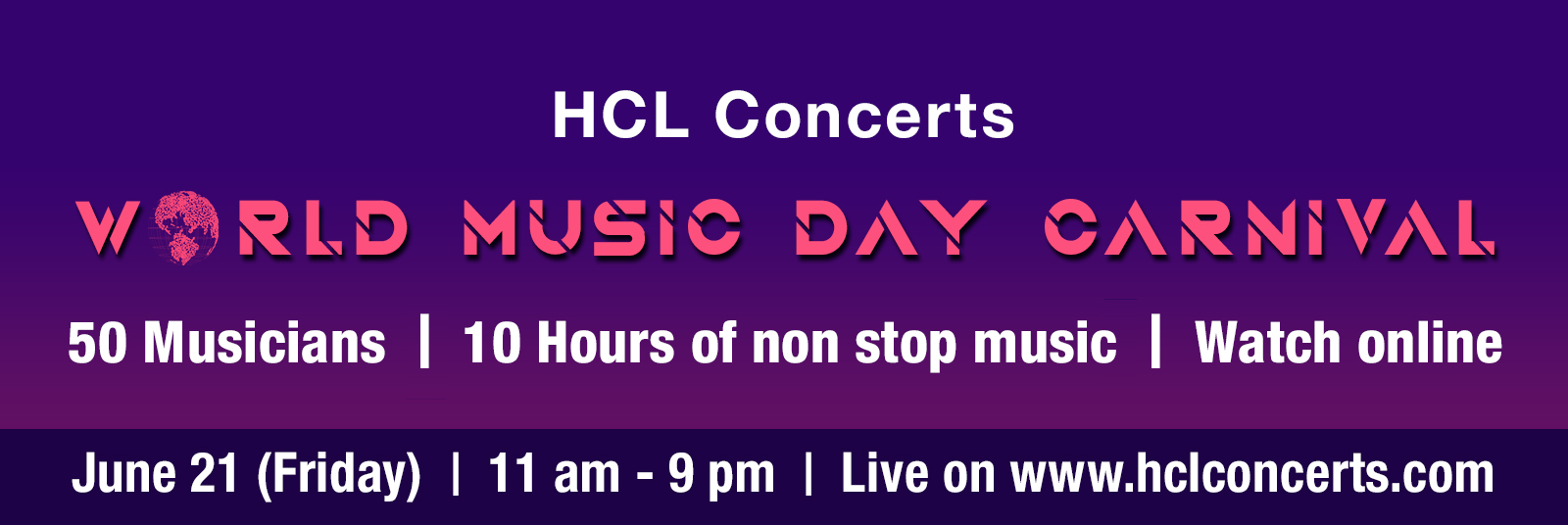 HCL Concerts World Music Day Carnival